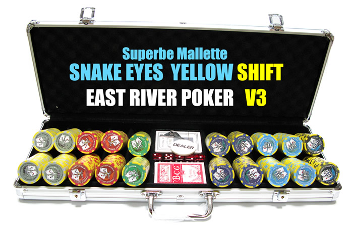 mallette aluminium snake eye yellow jeton de poker abs grade a