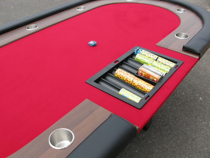 Table Image Poker Table de Poker Ovale 10